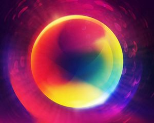 Preview wallpaper circle, colorful, shape