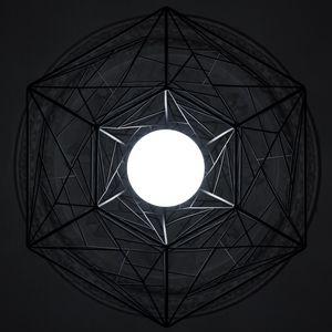 Preview wallpaper circle, glow, hexagon, geometry, dark