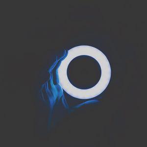 Preview wallpaper circle, hand, light, neon