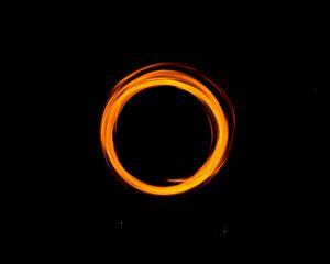 Preview wallpaper circle, light, portal, dark background