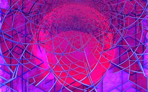 Preview wallpaper circle, lines, abstraction, colorful