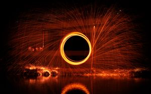 Preview wallpaper circle, movement, sparks, glow