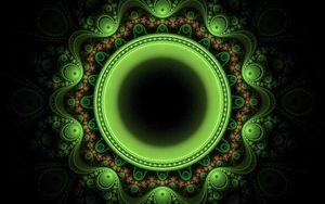 Preview wallpaper circle, patterns, green