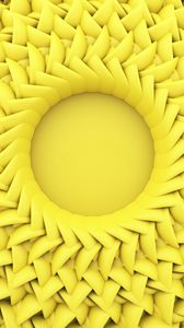 Preview wallpaper circle, relief, 3d, yellow