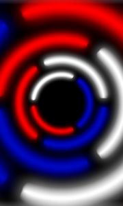 Preview wallpaper circle, russian, white, blue, red