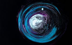 Preview wallpaper circle, spots, paint, dark, multicolored