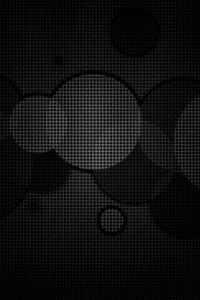 Preview wallpaper circles, background, grid, black white, dark