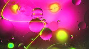 Preview wallpaper circles, neon, stripe, glare, glow, water