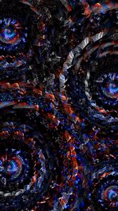 Preview wallpaper circles, rotation, red, blue, swirling, spiral, shape