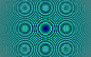 Preview wallpaper circles, shapes, optical illusion, abstraction, blue
