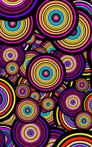 Preview wallpaper circles, shapes, pattern, colorful, abstraction