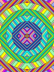 Preview wallpaper circles, stripes, colorful, abstraction