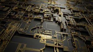 Preview wallpaper circuit, chip, detail, metal, computer, macro