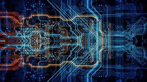Preview wallpaper circuit, chip, processor, neon