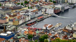 Preview wallpaper city, buildings, architecture, marina, aerial view, cityscape