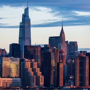 Preview wallpaper city, buildings, architecture, sunset, new york