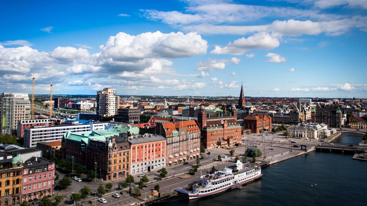 【壁纸桌面】城市、建筑物、船、河、建筑高清壁纸免费下载
