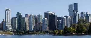 Preview wallpaper city, buildings, coast, metropolis, water