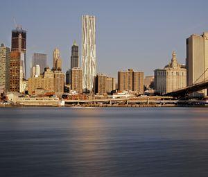 Preview wallpaper city, buildings, coast, metropolis, new york