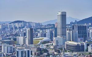 Preview wallpaper city, buildings, metropolis, cityscape, aerial view
