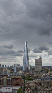 Preview wallpaper city, buildings, skyscraper, architecture, aerial view, cityscape
