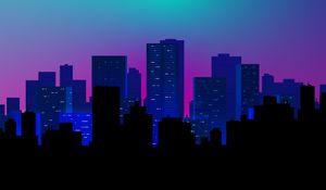 Preview wallpaper city, buildings, vector, art