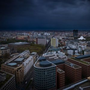 Preview wallpaper city, cityscape, buildings, aerial view, architecture