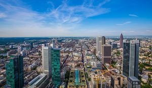Preview wallpaper city, cityscape, buildings, aerial view