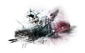 Preview wallpaper city, fantasy, photoshop, drawing