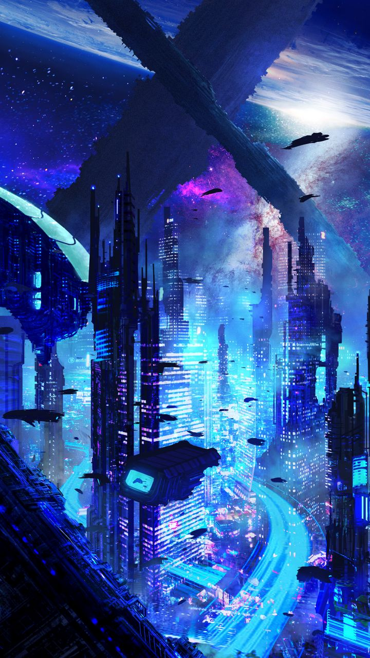 720x1280 Wallpaper city, futurism, sci-fi, future, fantastic