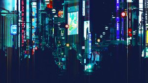 Preview wallpaper city, night city, art, silhouettes