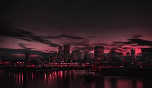 Preview wallpaper city, night, panorama