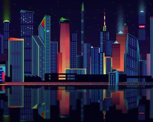 Preview wallpaper city, vector, panorama