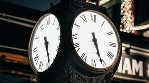 Preview wallpaper clock, dial, backlight, street, city