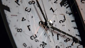 Preview wallpaper clock, dial, hands, numbers, lines, tangled