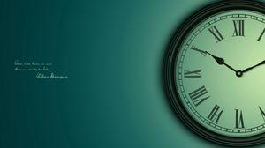 Preview wallpaper clock, time, dial, saying, sage