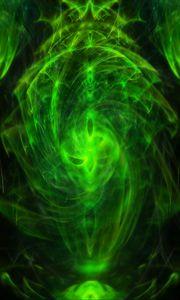 Preview wallpaper cloud, haze, glow, green, abstraction