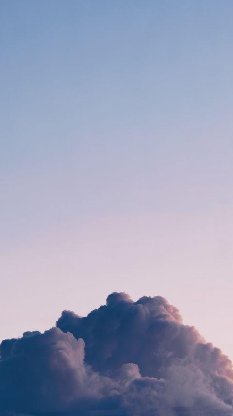 480x854 Wallpaper cloud, sky, atmosphere, minimalism