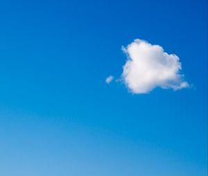 Preview wallpaper cloud, sky, minimalism, blue