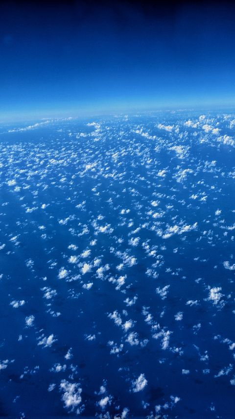 480x854 Wallpaper clouds, atmosphere, troposphere, height, above clouds, horizon