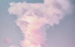 Preview wallpaper clouds, porous, sky, pastel