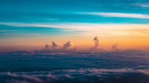 Preview wallpaper clouds, sky, horizon, height, thick