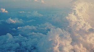 Preview wallpaper clouds, sky, porous, air, flight