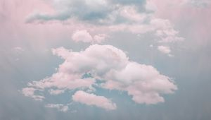 Preview wallpaper clouds, sky, porous, pastel, light