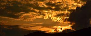 Preview wallpaper clouds, sky, sunset, dark