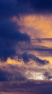 Preview wallpaper clouds, sky, twilight, blue