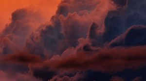 Preview wallpaper clouds, sunset, sky, atmosphere