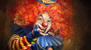 Preview wallpaper clown, art, smile, makeup, circus, emotions