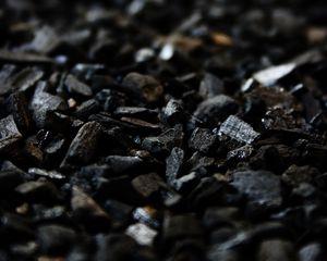Preview wallpaper coal, carbon, black, stones