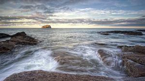 Preview wallpaper coast, scotland, landscape, north berwick, nature